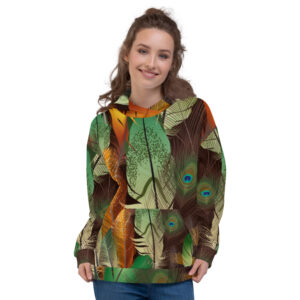 New Peacock Feather Hoodie